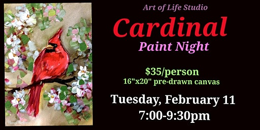 Paint Night: Cardinal