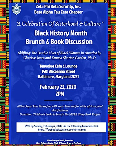 FWO: A Celebration of Sisterhood & Culture: A Black History Brunch & Book Discussion