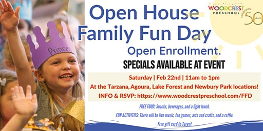 Woodcrest Preschool Open House Family Fun Day Lake Forest
