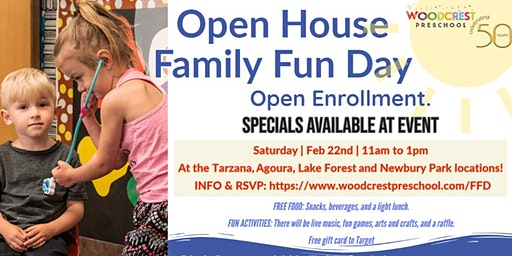 Woodcrest Preschool Open House Family Fun Day Agoura Hills
