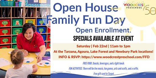 Woodcrest Preschool Open House Family Fun Day Newbury Park
