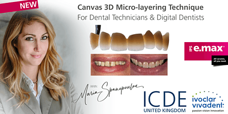 Canvas – The 3D Staining Technique (All Ceramics) tickets
