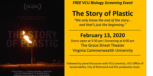 VCU Biology Screening Event- The Story of Plastic