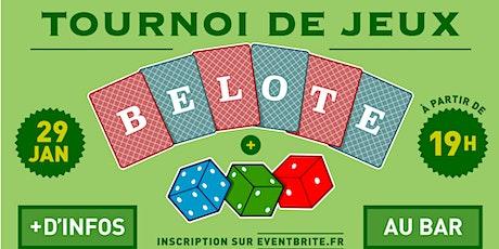Tournoi de BELOTE / Bistrot de St So tickets