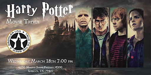 Harry Potter Movies Trivia at Growler USA Lubbock