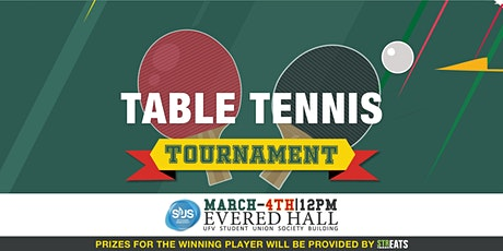 Table Tennis Tournament March  4th tickets