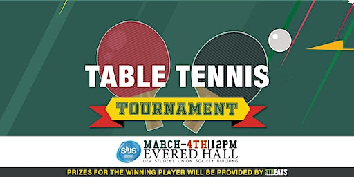 Table Tennis Tournament March  4th