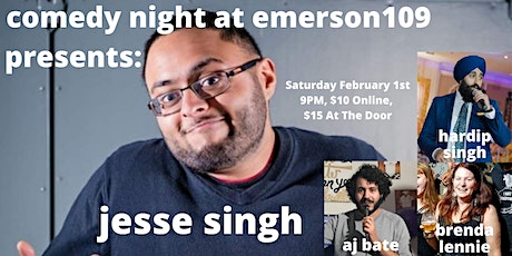 Jesse Singh (as seen on Just For Laughs 42) - Comedy Night at Emerson109 tickets