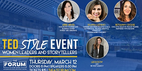 TED Style Event: Women Leaders and Storytellers tickets