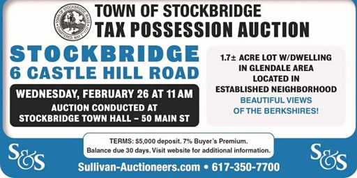 Stockbridge MA Public Auction!