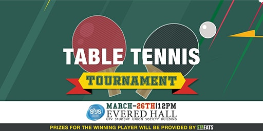 Table Tennis Tournament March  26th