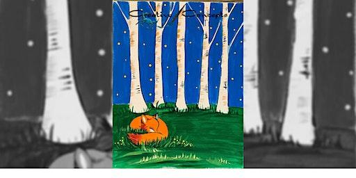 Snoozin' Fox Slate or Canvas Paint Night