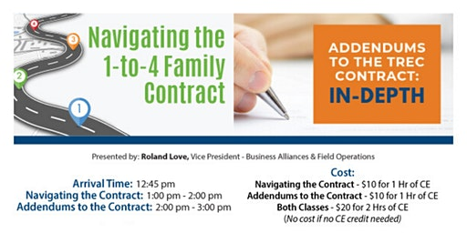 Navigating the 1 to 4 Family Contract & Addendums to the TREC Contract