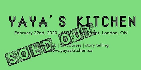 Black History Month Supper Club, Feb 22, 2020 by Yaya's Kitchen tickets