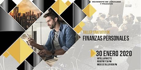 Taller Gratuito de Finanzas Personales 30 de Enero, Deja de perder el tiempo. entradas