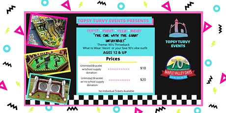 Topsy Turvy Teen Night at Maple Valley Days 2020 tickets