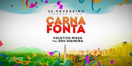 Carnaval do Obelisco apresenta CarnaFonta com Coletivo Missa ingressos