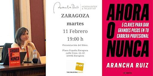 """Presentacion FNAC Zaragoza  libro """"Ahora o Nunca"""" de Arancha Ruiz"""