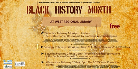 Black History Month at West Regional Library tickets
