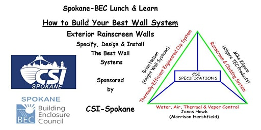 Build Your Best Wall System - Lunch & Learn; 1 AIA HSW CEU Approval Pending