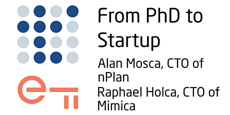 From PhD to Startup tickets