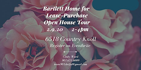 Bartlett Home for Lease Purchase Open House Tour tickets