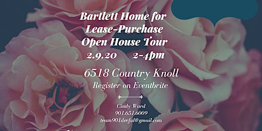 Bartlett Home for Lease Purchase Open House Tour