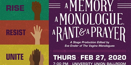 A Memory,  A Monologue, A Rant,  & A Prayer tickets