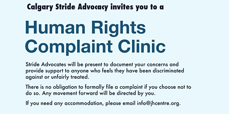 Stride Calgary: Human Rights Complaint Clinic tickets