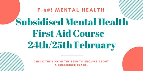 Pay as you feel Mental Health First Aid Course  in Leeds tickets