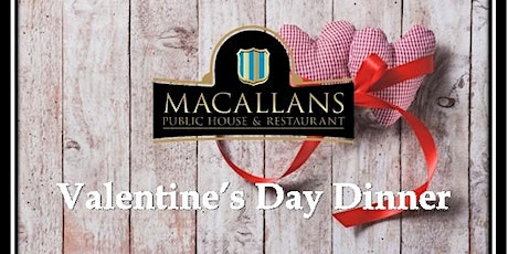 Valentines Day Dinner for two at Romantic Irish Pub. tickets