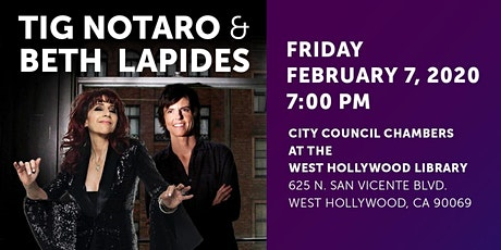 TIG NOTARO IN CONVERSATION WITH BETH LAPIDES tickets