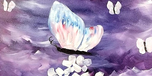 Butterflies, Paint And Wine Event