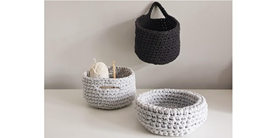 Learn to Crochet at Shorne Woods Country Park - Crochet a basket - Beginners