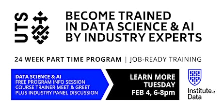 UTS Data Science & AI Training Program - Free Info Session: 6pm tickets
