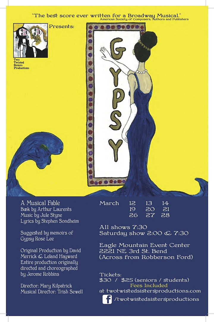**CANCELED** Gypsy, The Musical - LAST SHOW  Mar. 13 image