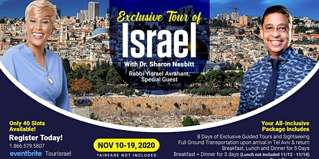 Exclusive Tour of Israel with Dr. Sharon Nesbitt tickets