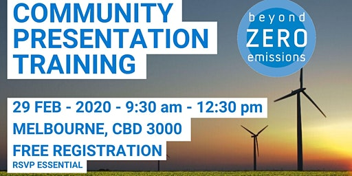 Beyond Zero Emissions Community Presentation Training