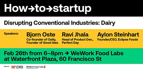 How-to Startup: Disrupting Conventional Industries (Dairy) tickets
