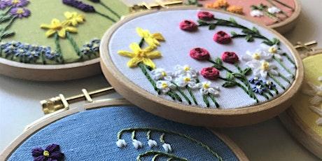 Beginner Embroidery: Family Flower Garden Design tickets