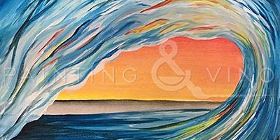 'Sunset Wave' - Fun Paint and Sip Event