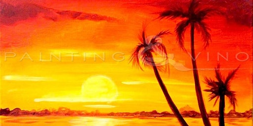 'Family of Palm Trees' - Fun Paint and Sip Event