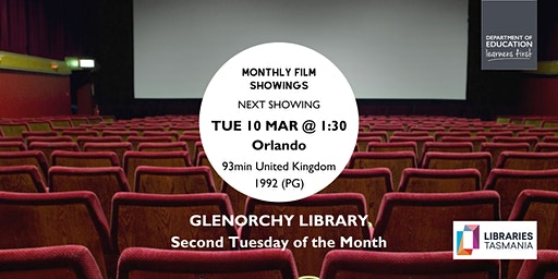 Monthly film showings - March @ Glenorchy Library
