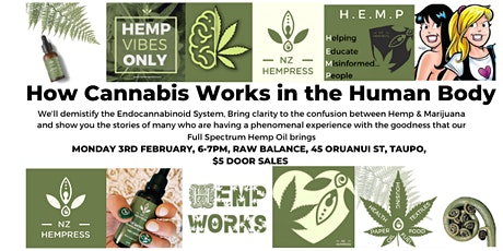How Cannabis Works In The Human Body Taupo tickets