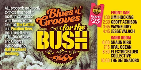 Blues N Grooves for the Bush at The Catfish tickets