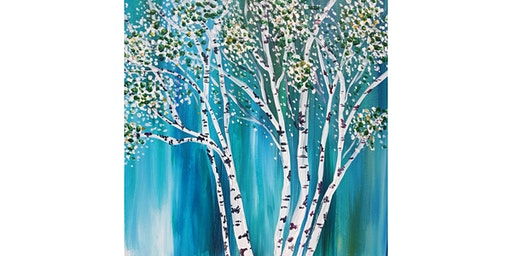 "3/11 - Corks and Canvas Event @ Port Townsend Vineyards, PORT TOWNSEND ""Spring Birch"""
