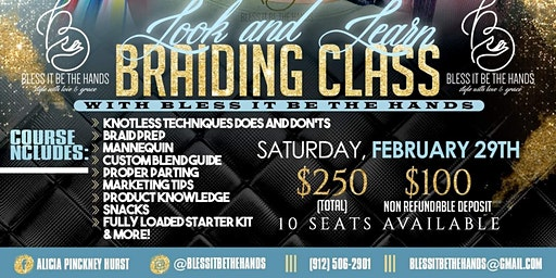 Look and Learn One on One Braiding Class $250