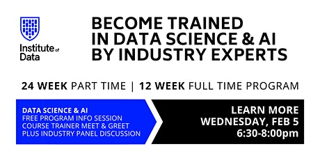 Data Science & AI Training Program: Free Info Session: 6:30pm tickets