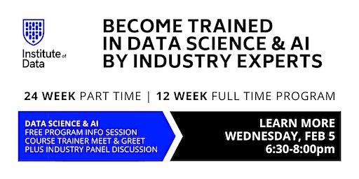 Data Science & AI Training Program: Free Info Session: 6:30pm