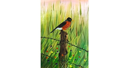 """3/12 - Corks and Canvas Event @ Gard Vintners, Woodinville """"Robin in Spring"""" tickets"""